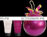 Набор Елочный шар (фиолет.) Крем для рук и ногтей + Крем для рук виноград 50мл *3*6