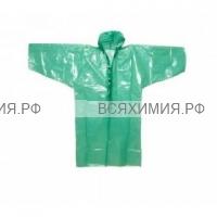 А.Д.М. Дождевик-пончо полиэтиленовый с резинкой на руковах (80х120) (зеленый) *5*100