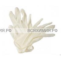 Перчатки виниловые L 100 шт белые *1