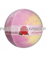 КАФЕ КРАСОТЫ Шарик для ванны бурлящий Розовый сорбет 120 гр *11*22*