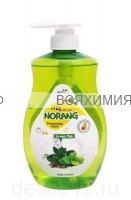 Norang Средство для мытья посуды с экстрактом зеленого чая, 750 мл. *6*11