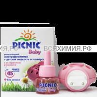 Picnic Baby Комплект фумигатор + жидкость от комаров 45 ночей 30мл